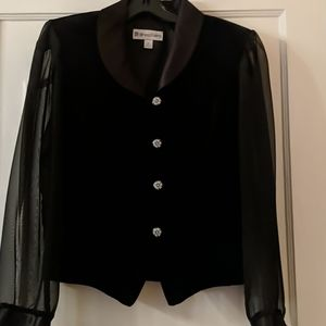 Black vintage dress shirt with cheer sleeves size